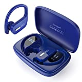 Wireless Earbuds occiam Bluetooth Headphones 48H Play Back Earphones in Ear Waterproof with Microphone LED Display for Sports Running Workout Blue
