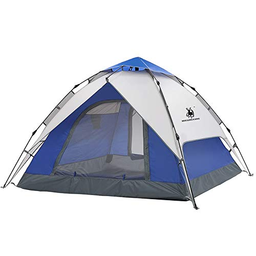 GFBVC Camping Tent Pop-up Automatic Instant Setup Family Tents Sun Shelter for Beach CampingHiking Blue Backpack Tent Waterproof Tent (Color : Blue, Size : One Size)