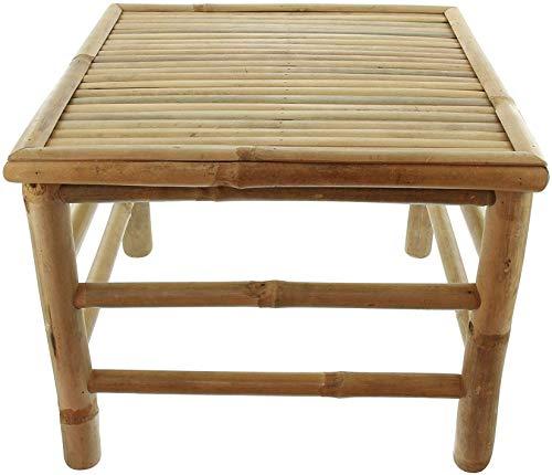 Dekoleidenschaft Beistelltisch Tropical aus Bambus Holz, Couchtisch, Sofatisch, Gartentisch, Balkontisch