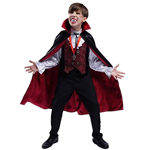 SEA HARE Disfraz de Vampiro Gtico de Halloween para Nio (S:4-6 aos)