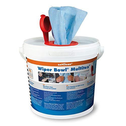 72 Multitex feuchte Reinigungstücher Wiper Bowl im Eimer