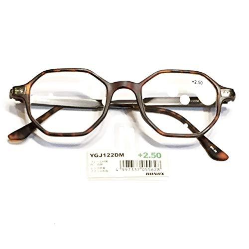 YGJ122 BONOX ダルトン おしゃれ 老眼鏡 シニアグラ Reading Glasses (DEMI, 2.0)