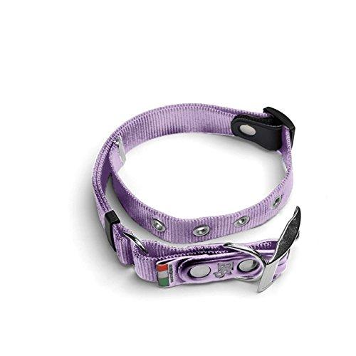 Collare di nastro in nylon (PA) , mod. Regular , tg. S ( 20-30 cm ), colore Lilla