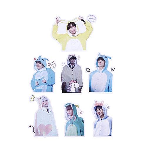 ALTcompluser Kpop BTS Bangtan Boys Stickers Wasserdicht Aufkleber Vinyl Aufkleber für Laptop, Macbook, Gepäck, Skateboard (7 Stücke- Pyjamas)