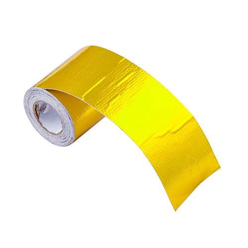 Onewell Fiberglas Hitze-Reflektierendes Klebeband, goldfarben, hohe Temperaturen, Hitze- und Schallschutz, Klebeband