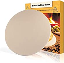PentaBeauty Pizza Stone, 15''x 15' Round Engineered Tuff Cordierite Durable Baking Stones for Ovens & Grill & BBQ, Stone Oven Round Pizza Stone