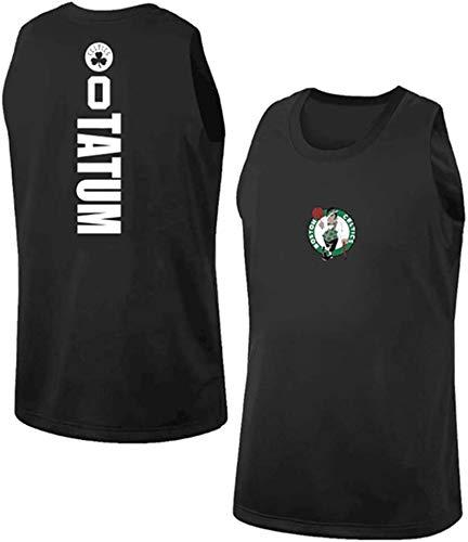 Jersey NBA Jersey -Boston Celtics 0# Jayson Tatum Hombres, Fresco sin Mangas clásico Tejido Transpirable Deporte Jersey del Baloncesto del Chaleco,XL(180~185cm/85~95kg)