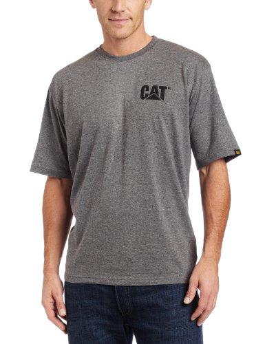 Caterpillar Herren T-Shirt mit Markenzeichen, Normale und große Größen - grau - Mittel