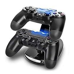 Sony Playstation 4 PS4 Dual Controller Ladestation für 2 Gamepads Charger schwarz