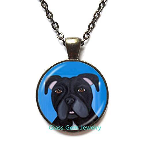 Collar de perro Pit Bull American Pitbull Terrier Pet Puppy Rescate Colgante Bulldog Joyería para amantes de los animales, Q0222