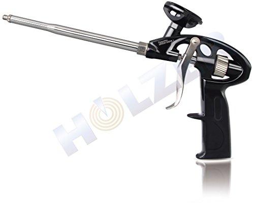 Holzer® PU-Schaumpistole Teflon beschichtet Profi-Qualität/Lack Schwarz