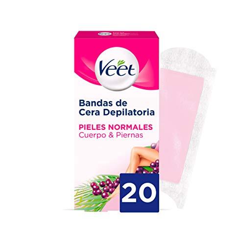 VEET Easy gelwax bandas de cera depilatoria piel normal caja 20 uds