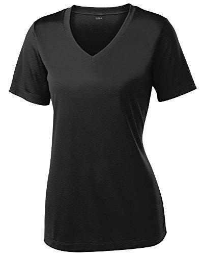 Opna Women's Short Sleeve Moisture Wicking Athletic Shirt, Large, Black