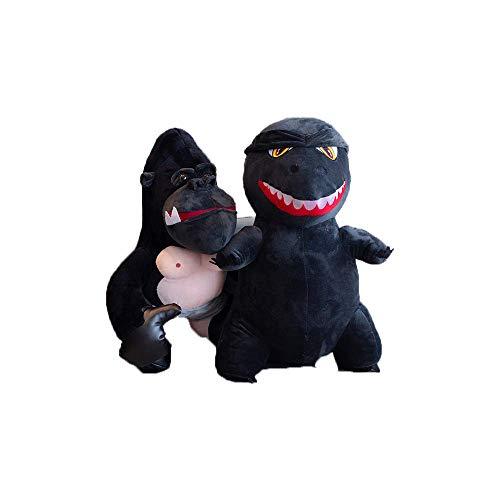 ZZDZSW Godzilla Plush Super Cute Plush Dinosaur Dragon Monster Plush Toys Stuffed Animal Birthday Xmas Kid Gift (2 pcs)