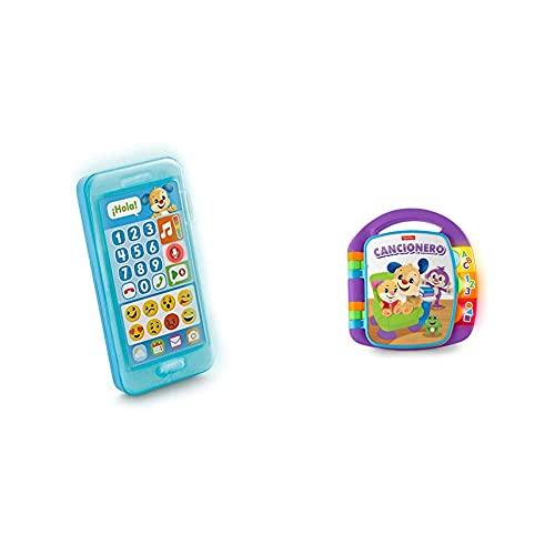 Fisher-Price Teléfono Aprende con Perrito, Juguete Bebé +1 Año (Mattel Fpr17) , Color/Modelo Surtido + Libro Interactivo De Aprendizaje, Juguete Bebé +6 Meses (Mattel Frc69)