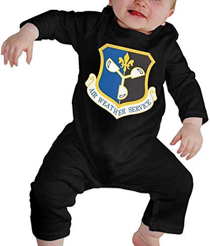 Unisex Servicio Meteorológico Aéreo de la Fuerza Aérea de EE. UU. Bebé recién Nacido 6-24 Meses Ropa de Escalada para bebés Ropa de Manga Larga para bebés Monos Negros Monos para bebés