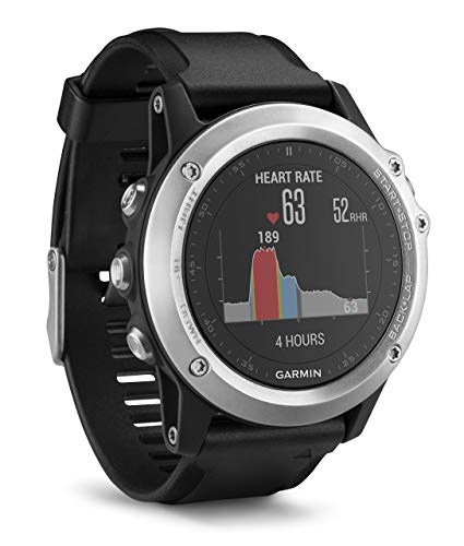 Garmin Fenix 3 HR GPS Multisport Watch with Outdoor Navigation and Wrist Based Heart Rate - Silver Edition (Renewed)