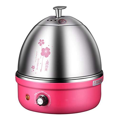GUCL Rapid-Ei-Kocher, mit Auto-Abschaltung bis zu 7 Eier für Soft Medium Hard Boiled Pochierte Voll Edelstahl elektrische Eierkocher,Rot