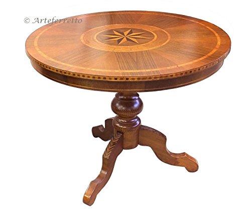 Arteferretto Table Ronde Fixe marquetée 90 cm