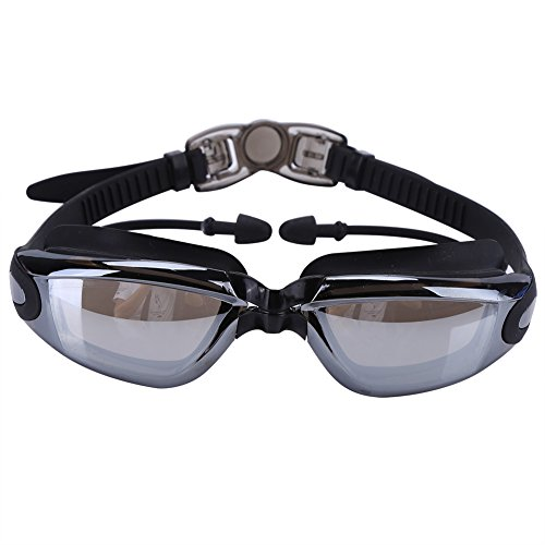 Dwawoo 1 Juego de Gafas de natación Impermeables Ajustables Gafas Protectoras contra el Agua Protección UV con Tapones para los oídos y Almohadillas para Anillos de Lentes