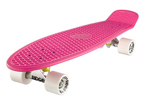 Ridge Skateboard Big Brother Nickel 69 cm Mini Cruiser, rosa/weiß