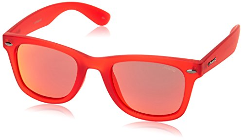 Polaroid P8400 OZ 0Z3 Gafas de sol, Rojo (Matte Red/Red Mirror Polarized), 50 Unisex Adulto