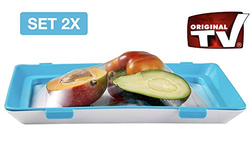 Lunchbox to go FRESH & CLIK 2er Set ORIGINAL aus dem TV | Praktische Frischhaltedose BPA-frei | Umweltfreundliche Brotdose für Mikrowelle