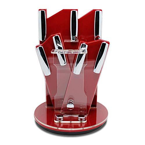 Laqemhu Bloque de Cuchillo Plegable de acrílico para Cuchillos de Cocina de...