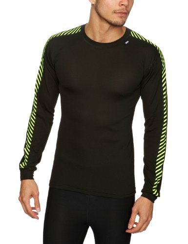 Helly Hansen Dry Stripe Crew T-Shirt à manches longues Homme, Noir, M