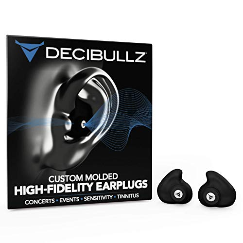 Decibullz Custom-Molded High Fidelity Earplugs, Hearing Protection for...