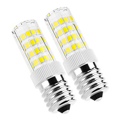 E17 LED Bulbs, AMAZING POWER E17 Appliance Bulbs Microwave Oven Light Bulbs Daylight White 6000K - 2 Pack