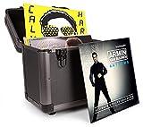 Power Dynamics RC80 ? Valise vinyles 24 x 35 x 39,5 cm - Titane, 12 pouces, poignées intégrées, construction très robuste, idéal DJ mobiles