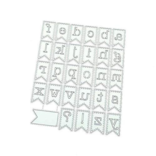 tailor13me Troqueles De Corte, Letras Diseño De Banner Plantilla De Metal DIY Scrapbooking Decoración En Relieve Tarjetas De Papel Álbum Stencil Craft Decor Plata