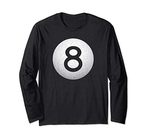 Vintage 8-Ball ~ Billard Billard Grafik Langarmshirt