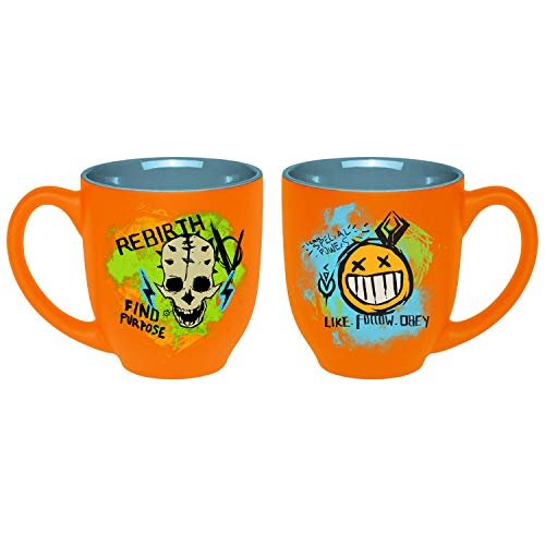 Borderlands 3 - Tasse Kaffeebecher - Rebirth -Sticker Punk - Orange - keramik - Geschenkbox