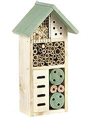 Pet Ting Casa de Madera para Insectos de Madera Natural, Refugio de Hotel, jardín, Caja de 26 cm