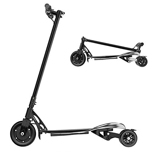 Scooter eléctrico, scooter eléctrico adulto de tres ruedas, 350 W plegable ligero barato Scooter eléctrico adulto rápido 16 mph LED resistencia 25 km, primera opción para trabajadores de oficina