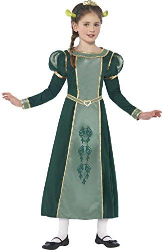 Girls Shrek Princess Fiona Ogre TV Film World Book Day Week Halloween Carnival Fancy Dress Costume Outfit 4-12 (4-6 Years) Green