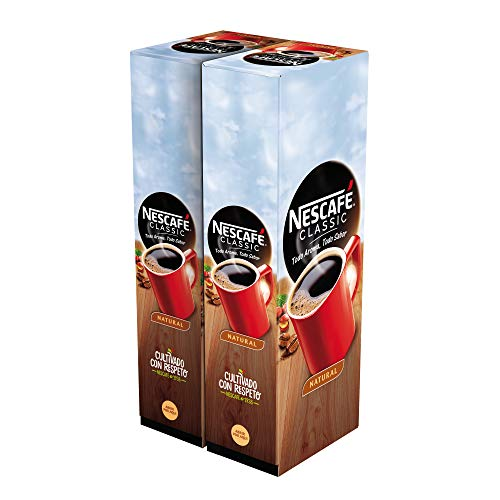 Nescafé Café soluble natural - 2 estuches x 50 sobres de 2 g - Total: 200 g
