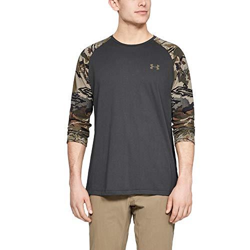 Under Armour Herren Camo Sleeve Utility T-Shirt, Herren, Dreiviertel-Ärmel, Camo Sleeve Utility T-Shirt, Kohle (019)/Bayou, Large
