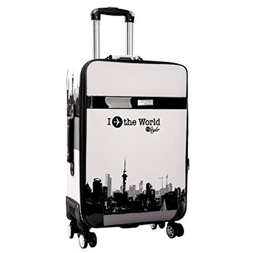 Mdsfe Retro Password Box Trolley Maleta de Gran Capacidad con Ruedas Bolsas de Viaje Equipaje con Ruedas - 3,22'