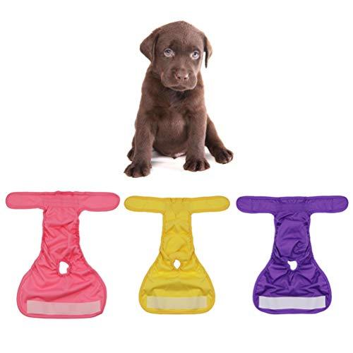POPETPOP 3 Stück Windeln für Haustiere Hygienehosen waschbar physiologischen Hund Frauenshorts Höschen Menstruation Unterwäsche Größe S
