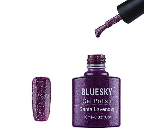 Bluesky UV Nail Vernis à Ongles Santa Lavender avec Multi-Colour Sparkles 10 ml