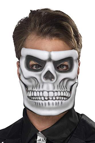 Smiffys Masque squelette Jour des morts, EVA, Blanc, avec mÔchoire mobile sÚparÚe