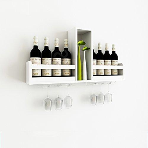 Wand Weinschrank Wandbehang Weinregal Moderne Minimalist Rack Kreative Weinregal Restaurant Wand-montiert Haushalt Weinregal (Farbe : Weiß)
