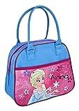 Handtasche für Mädchen mit Namen   Motiv ELSA die Eisprinzessin Frozen in blau, rosa & pink  ...