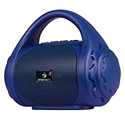 Zebronics Zeb-County Bluetooth Speaker with Built-in FM Radio, Aux Input and Call Function (Blue),Zebronics,Zeb-County