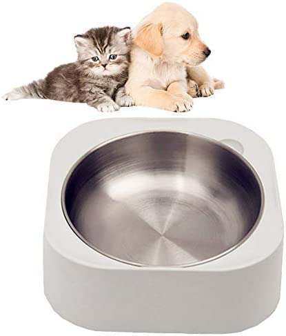 Cat Dog Food Bowls Slanted Cat Bowls for Food and Water Stainless Steel Dog Bowl with Heavy product image