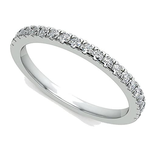 JewelsForum Alianza De Boda De Media Eternidad Con Diamantes De 0,24 Quilates...