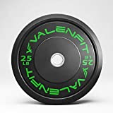 Weight Plates in Pairs and Singles, Olympic 2 Inch Bumper Plates with Steel Insert Rubber Fully Covered Free Weight Plates Set for Strength Training, Squat, Bench, Deadlifting